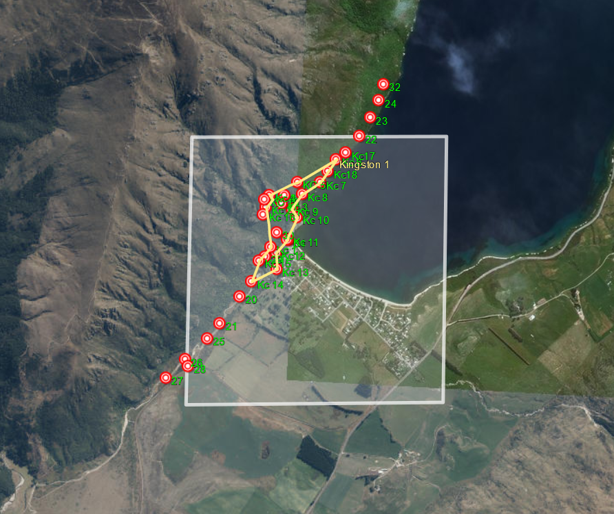 Kingston's trap lines along in the Te kere haka conservation reserve via the Shirttail track, the Te kere haka Track, and the Around the Mountains cycle trail.