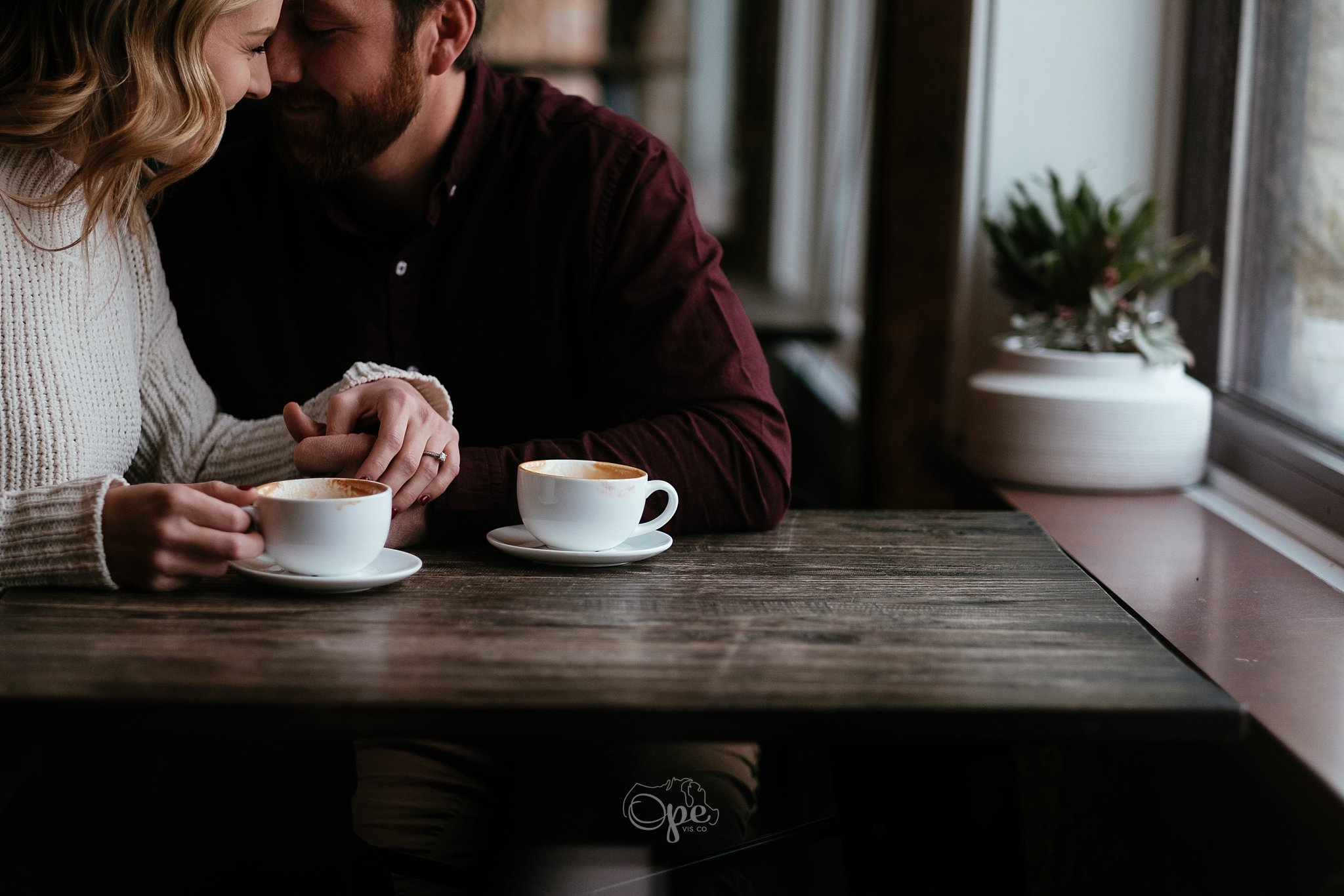 Ope Visuals Company Coffee Shop Engagement Session