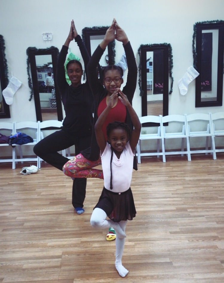 "Balancing in Tree Pose was an obstacle for these ""littles"" but they learned to OVERCOME!"