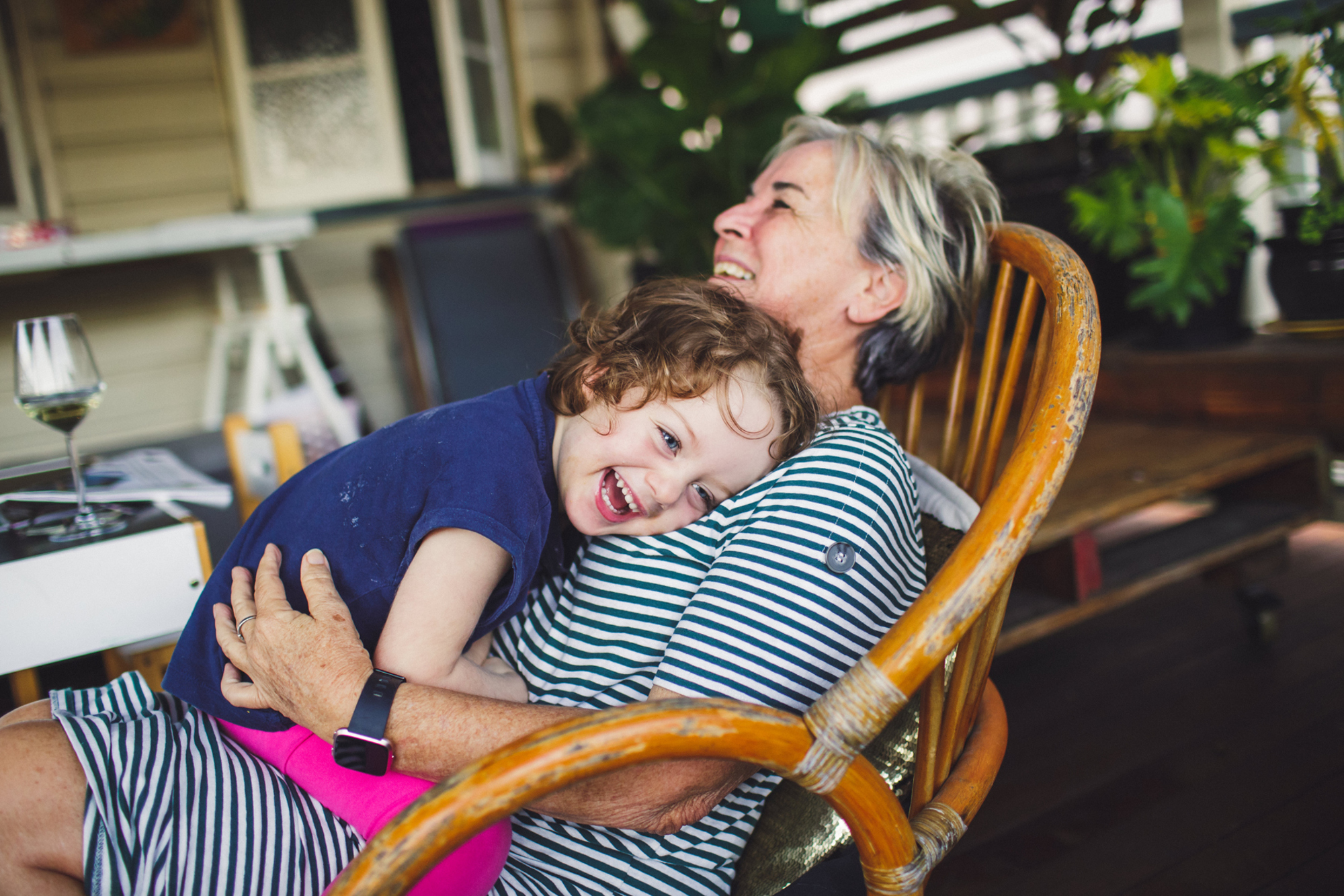 Cuddles with Grandma