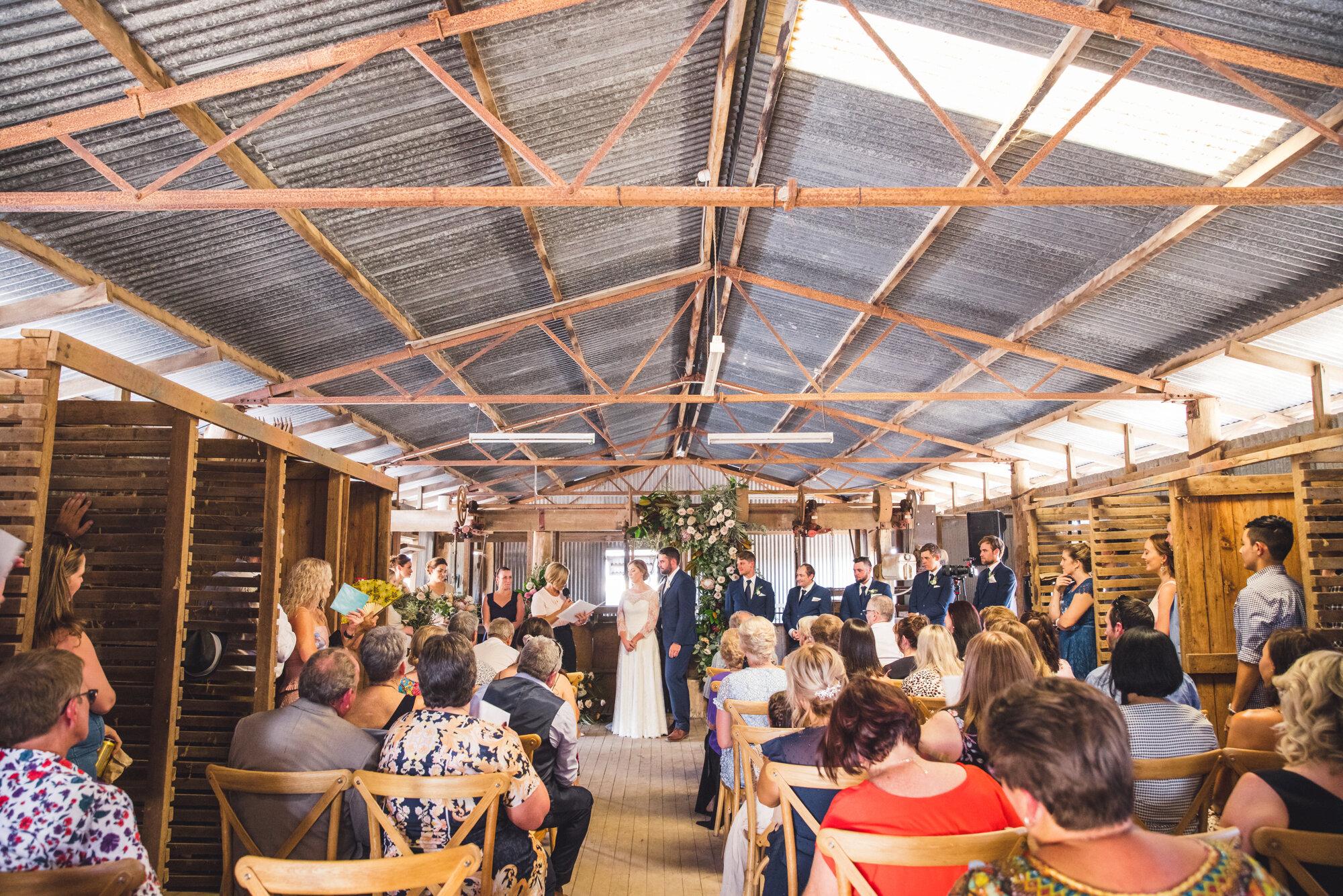 Sheering Shed Wedding Photo