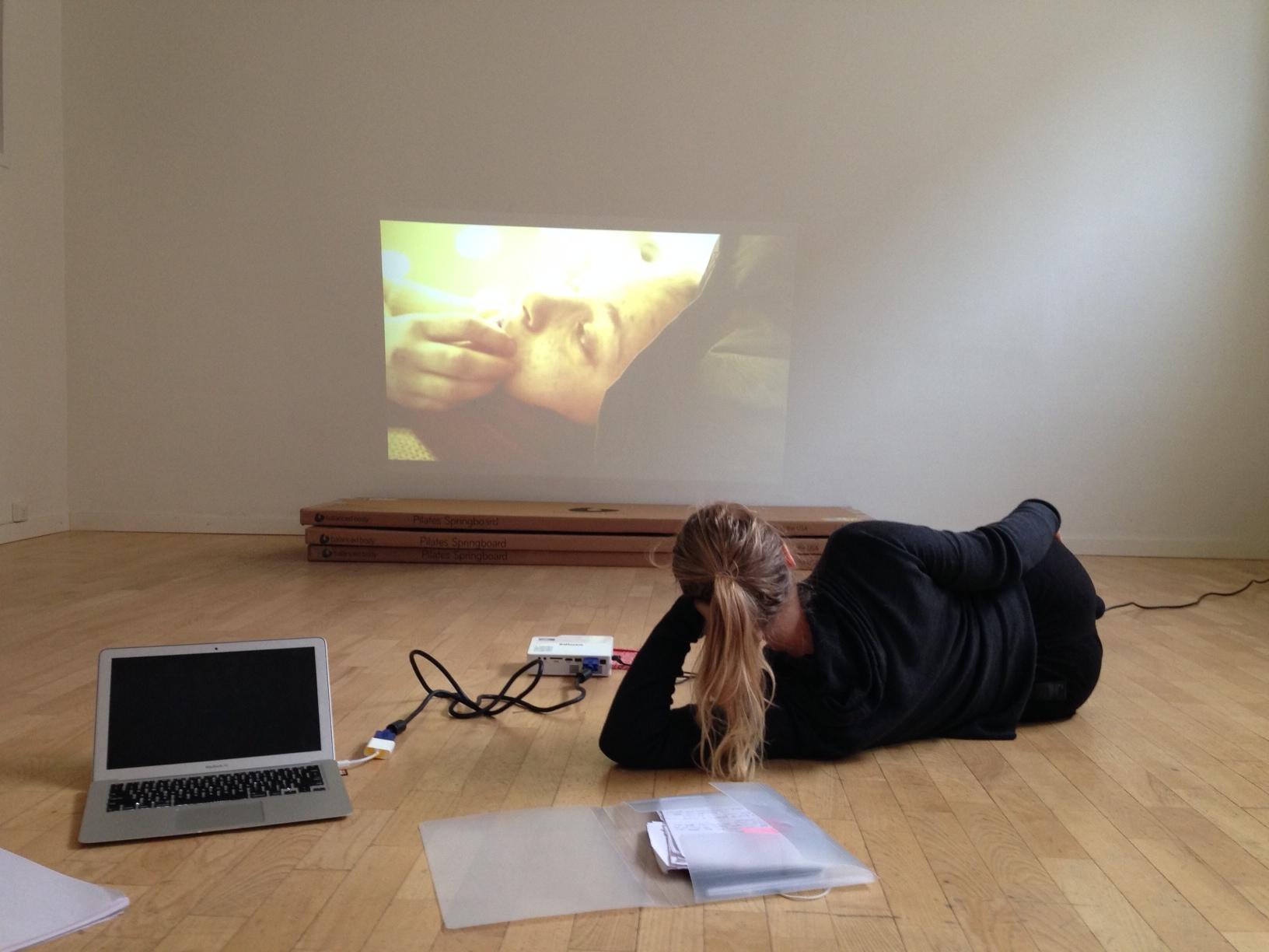 Coaching 3rd-year BFA Pedagogy Student on her final project, December 2014 Stockholm Sweden