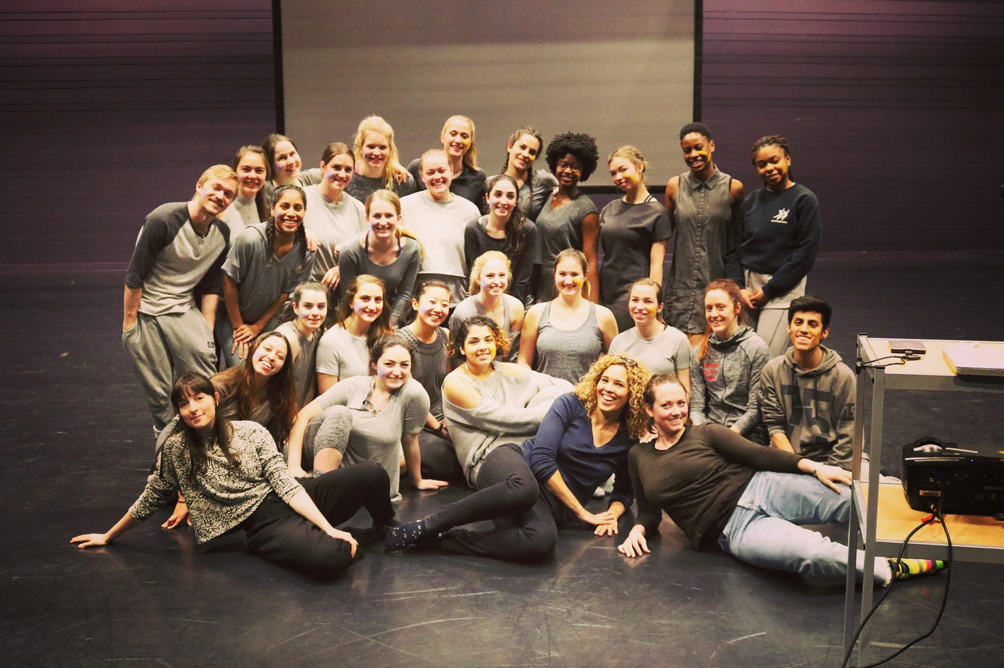 Montclair State University and University College of Dance in Stockholm. Dance Technology Cultural Exchange March 2017.
