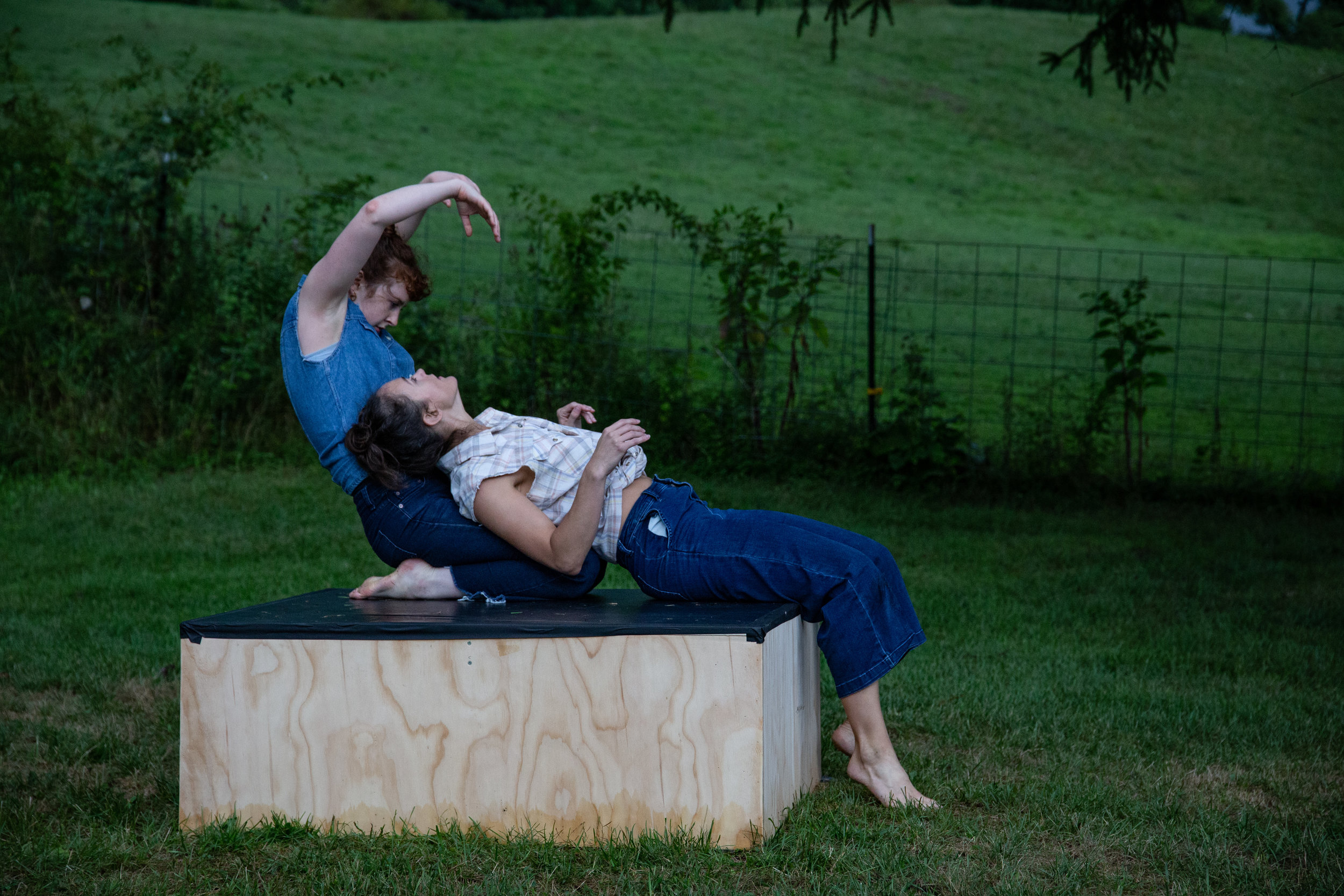Connor Speetjens & Courtney Drasner in Wandering Camille (2019) Wassaic Summer Festival, photo by Tony Turner