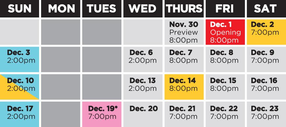 Theatre Orangeville Performance Schedule
