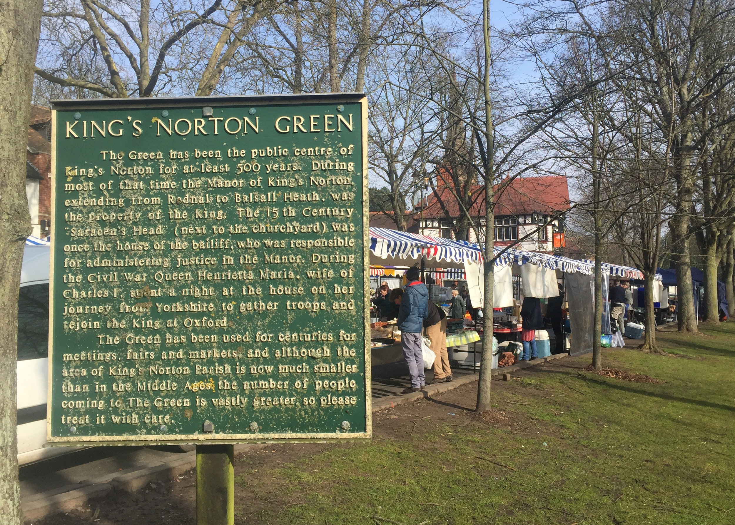 Historic notice at the corner of The Green