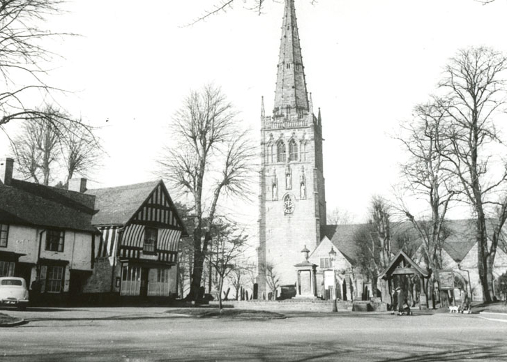 View towards the Church gate, C. 1950