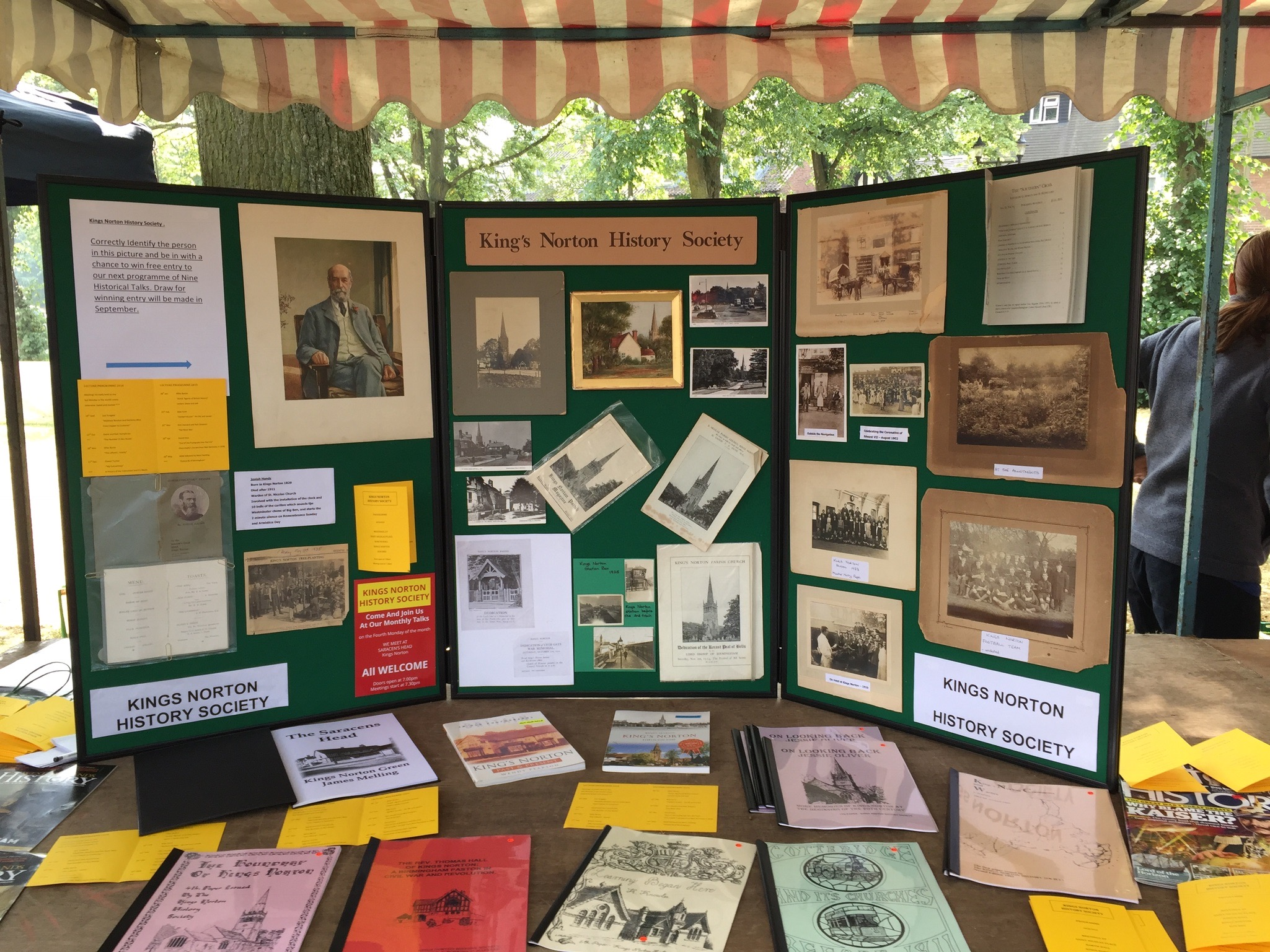 Kings Norton History Society - The chair of the society supervised a stall at the July market showing interesting historical images of people and places around Kings Norton.