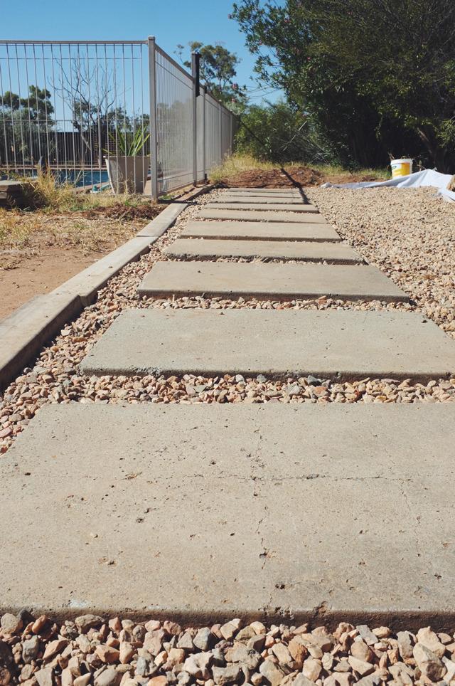 Backyard paving DIY