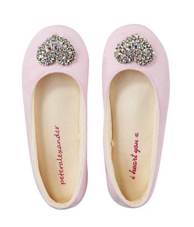 Peter Alexander Sparkly Heart Slippers