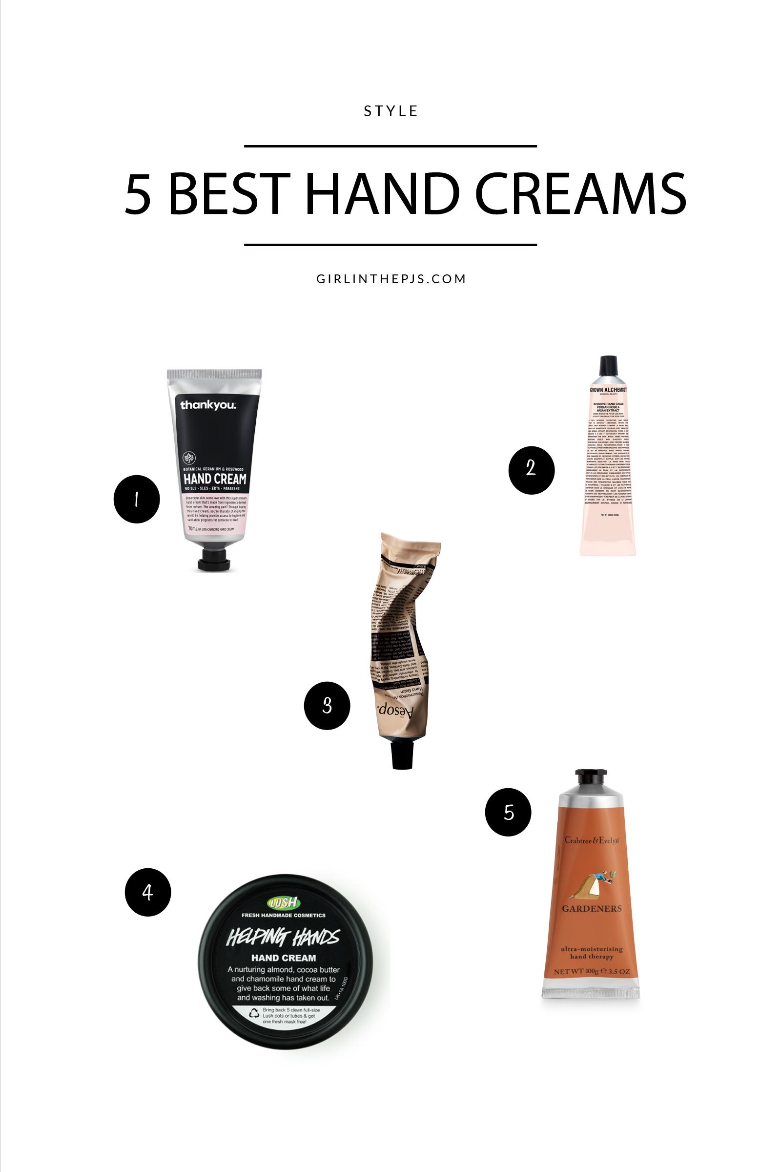 Girl in the Pjs 5 Best Hand Creams
