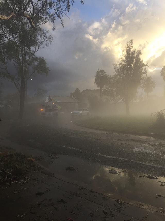 Girl in the Pjs Alice Springs Hail Storm