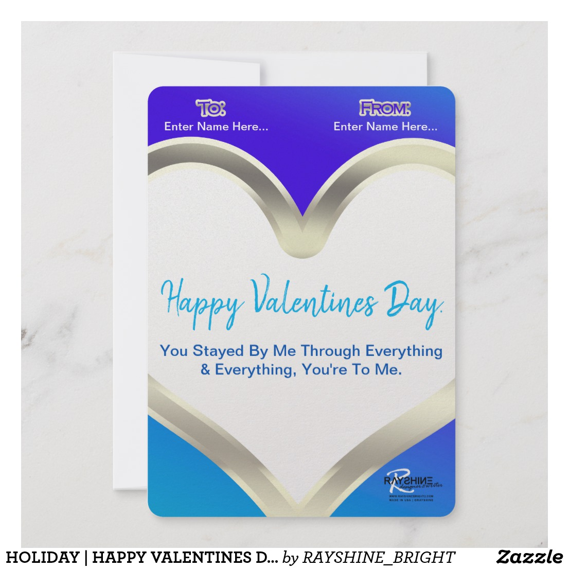 HOLIDAY | HAPPY VALENTINES DAY (M}{PostCardStyle)}{BACK)