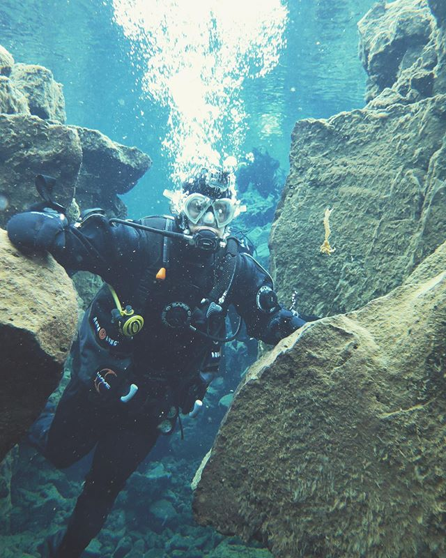 Visiting Iceland was a big one on my bucket list. Getting to touch two continents at once was just icing on the cake. The water was cold af and I couldn't figure out my dry suit but it was still an amazing experience.