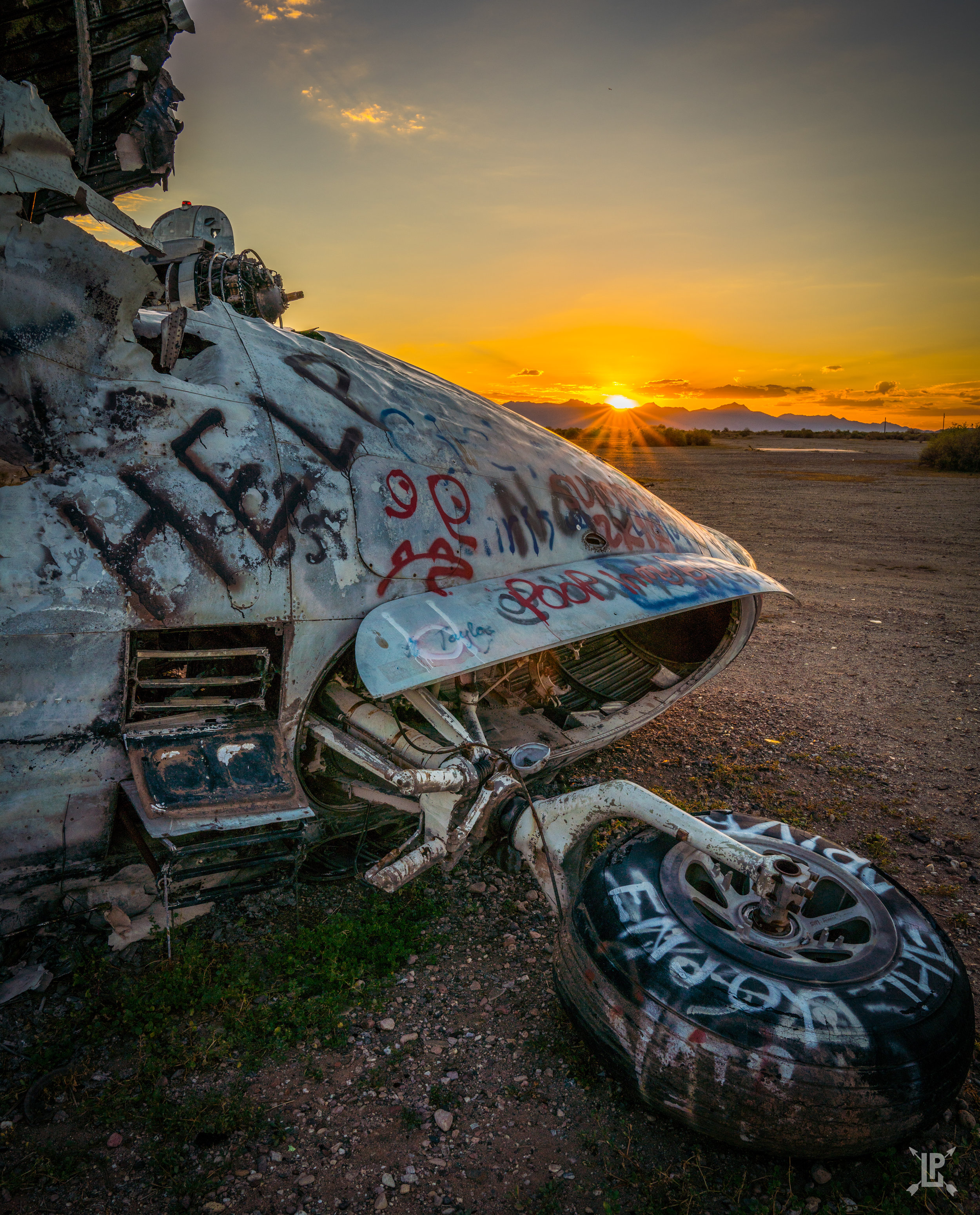 Outside Phoenix Arizona. This old airplane offered a great medium for photographs  Sony A7RIII