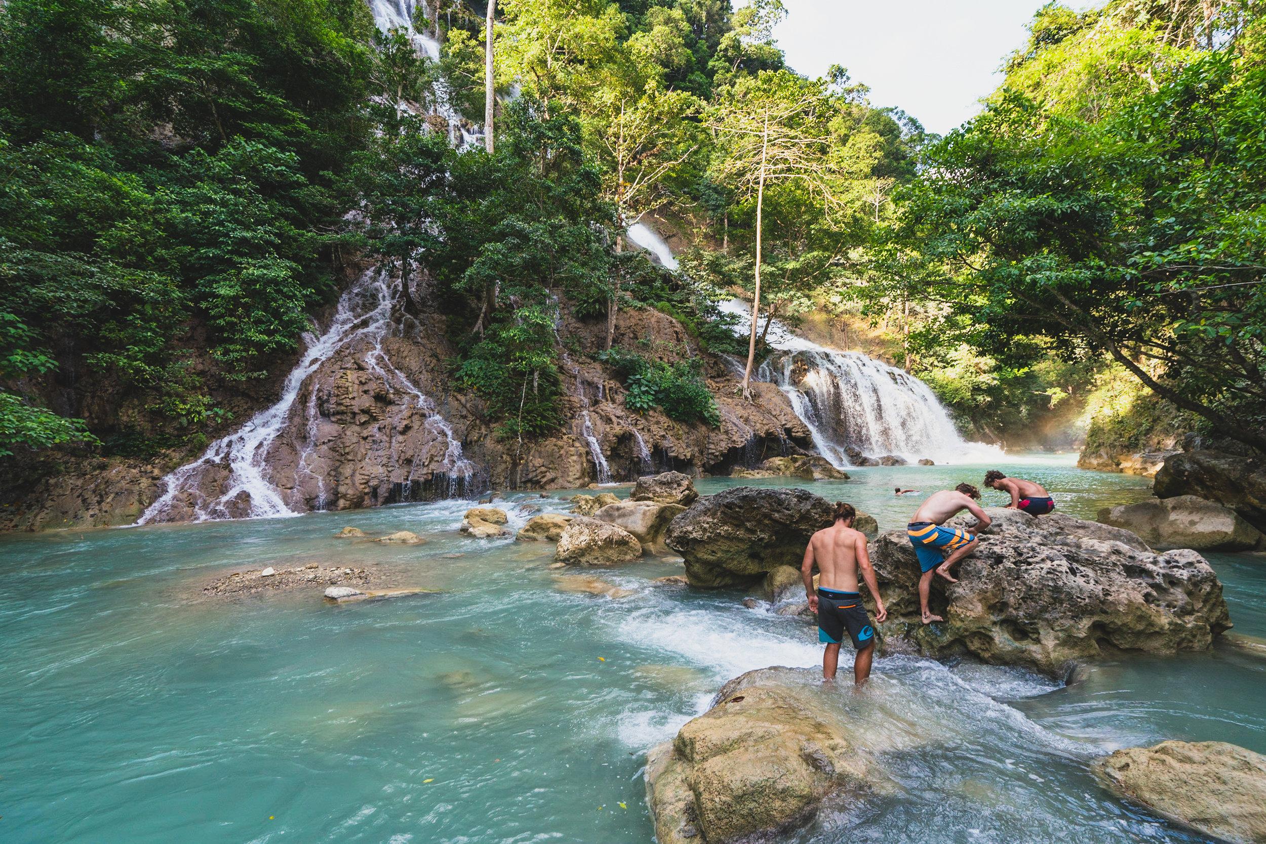 Exploring Lapopu Falls in Sumba