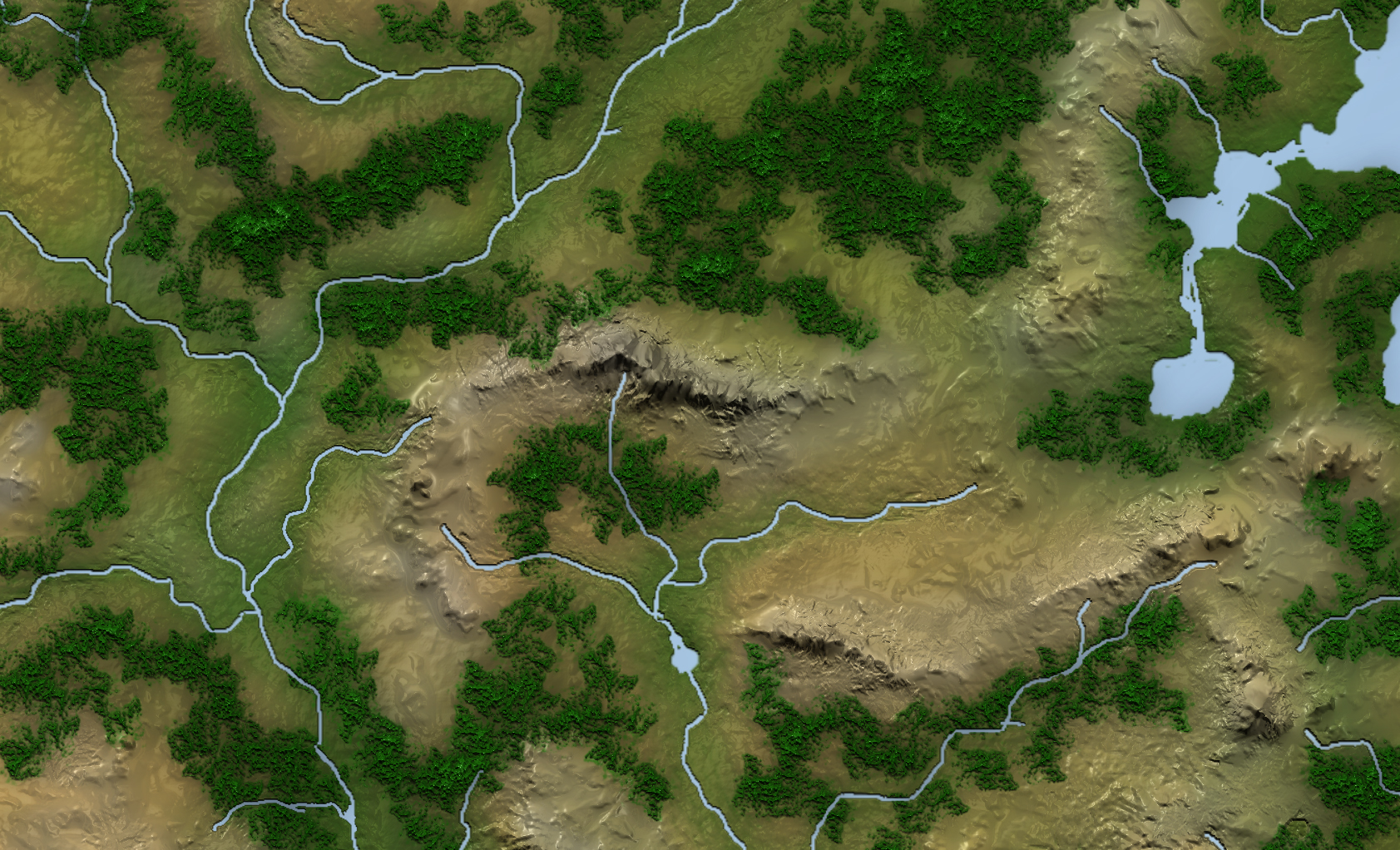 We specialize in very detailed maps. See every river, hill, and mountain. -