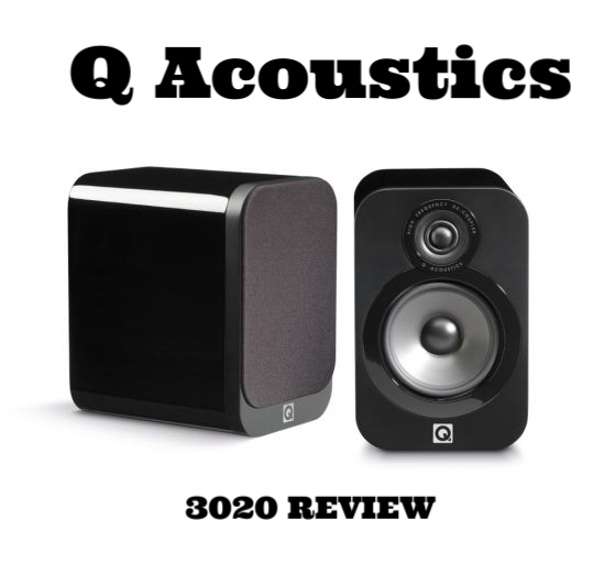 The black version of the Q Acoustics 3020 bookshelf speakers