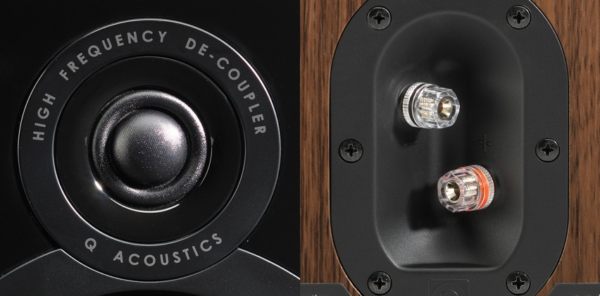 Combination tweeter and larger 5 inch woofer.