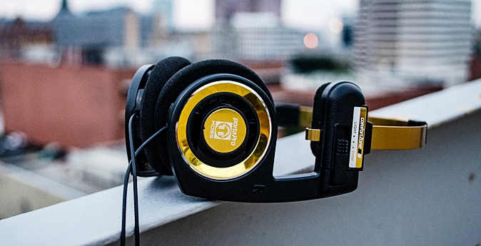 The special gold and black limited edition Koss Porta Pro Anniversary Edition.