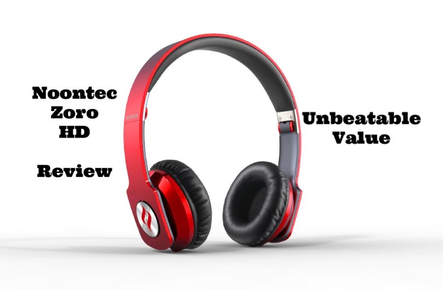 Red Noontec Zoro HD Headphones.