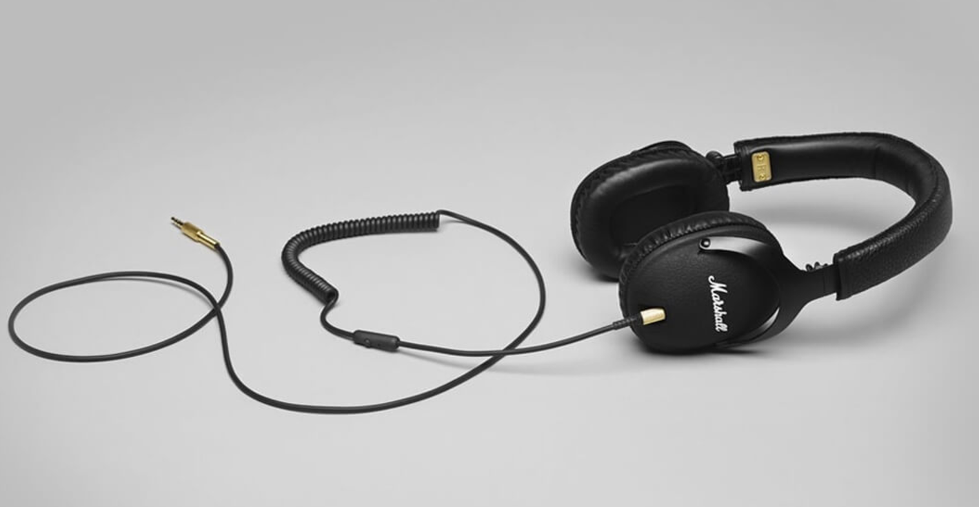 `The Marshall Monitor headphones in black are a sleek looking, great sounding set of portable headphones.