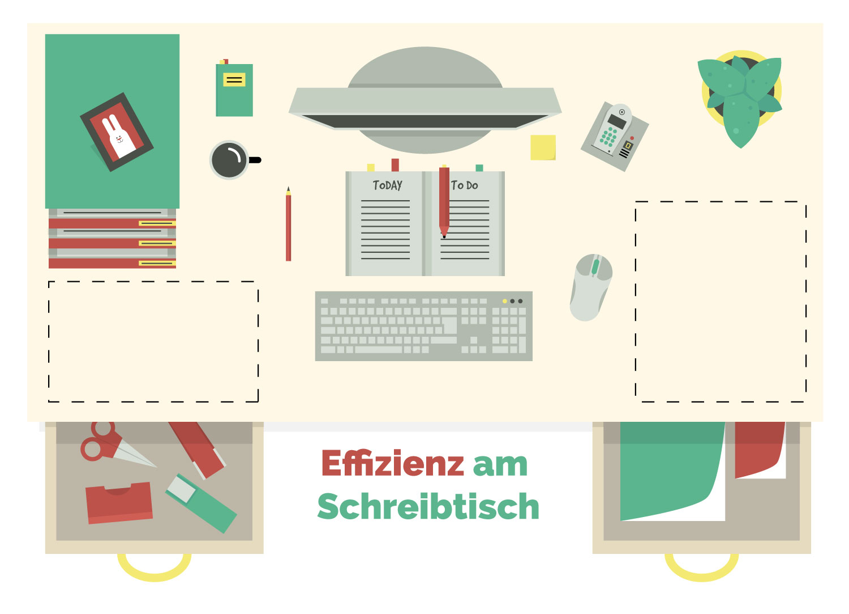 Blog Illustration über Ordnung am Schreibtisch von Elisabeth Deim
