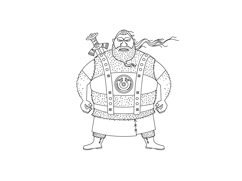 Work in Progress (Outline) des Character Design