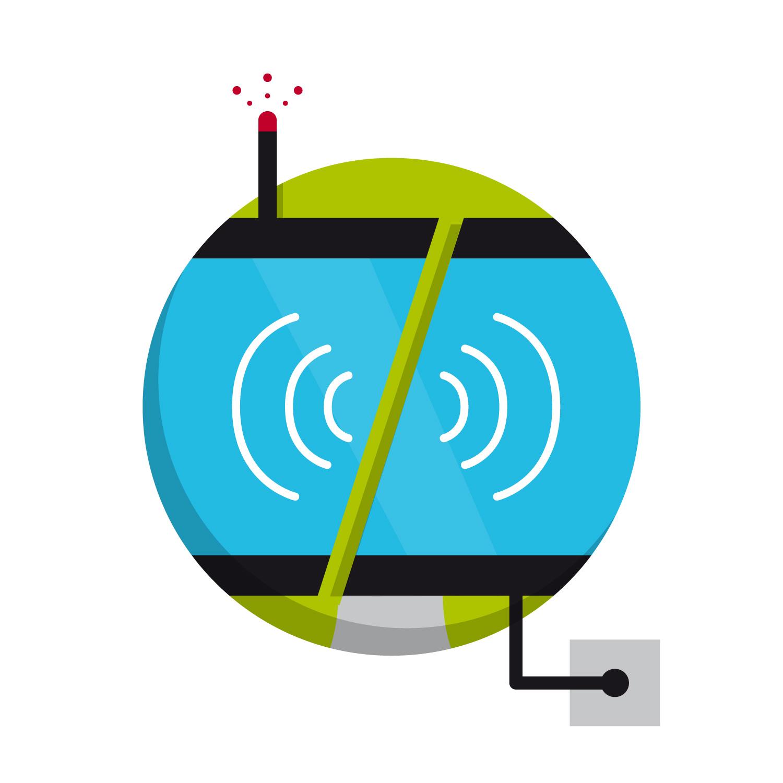 """Icon Design zum Thema """"DVBT2 und Kabelfernsehen"""" von Elisabeth Deim"""