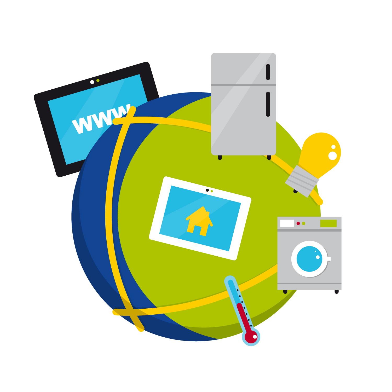 """Icon Design zum Thema """"IPv4 und IPv6"""" von Elisabeth Deim"""