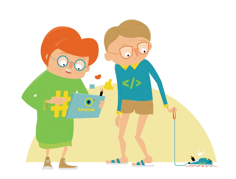 Character Design Nerd und Geek Teenager von Elisabeth Deim