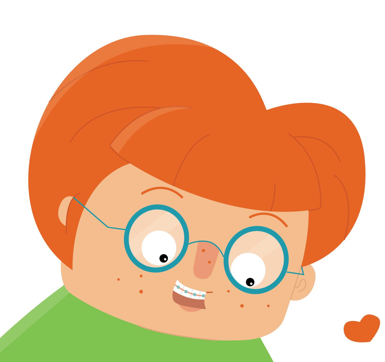 Detail zum Character Design Geek Mädchen von Elisabeth Deim