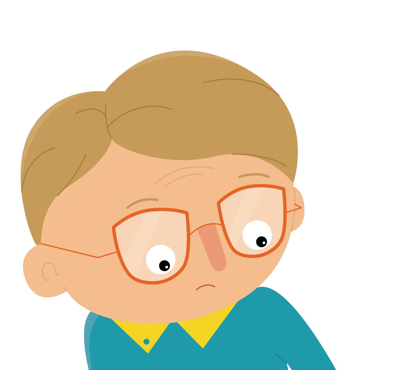 Detail zum Character Design Nerd Junge von Elisabeth Deim