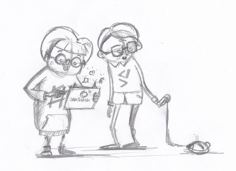 Character Sketch der Nerd und Geek Teenager von Elisabeth Deim