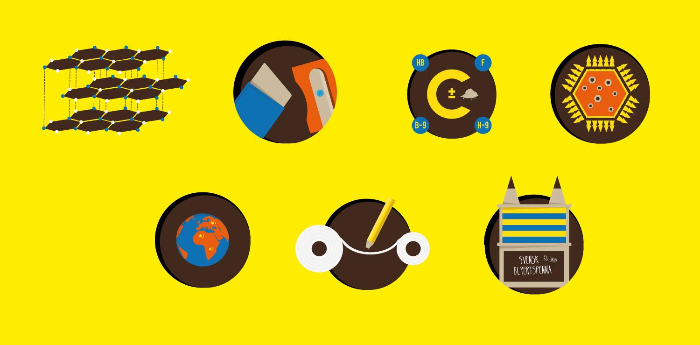 Icons für Infografik über Wissen zum Bleistift von Elisabeth Deim