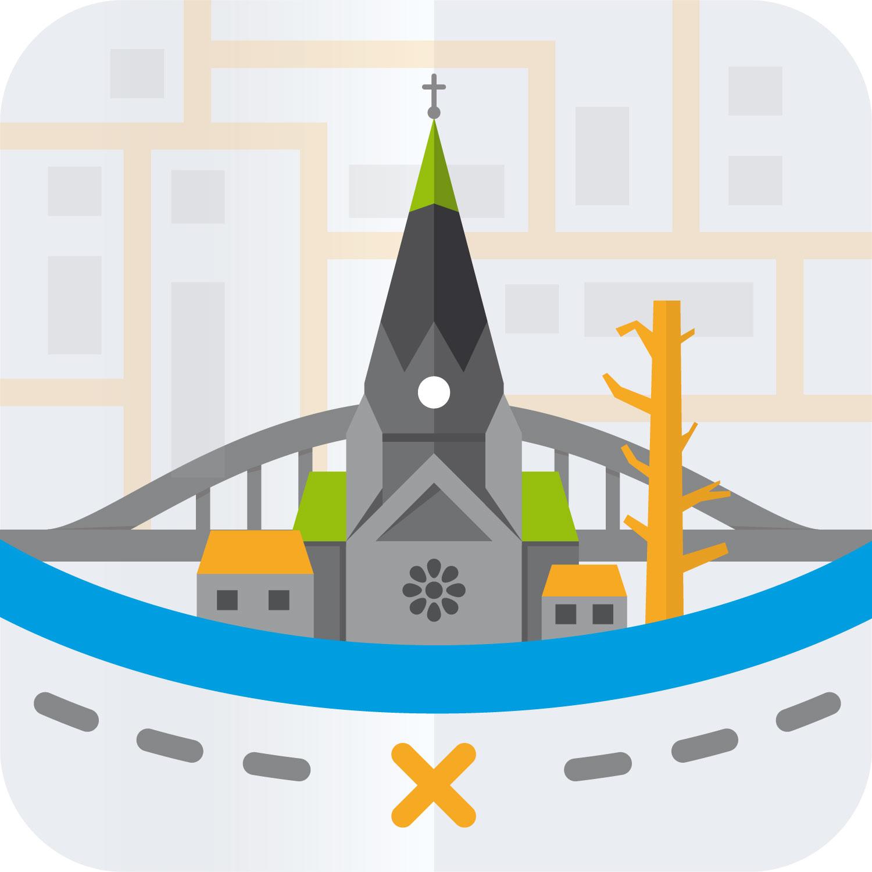 Finale Version des App Icon zur Riesa App von Elisabeth Deim
