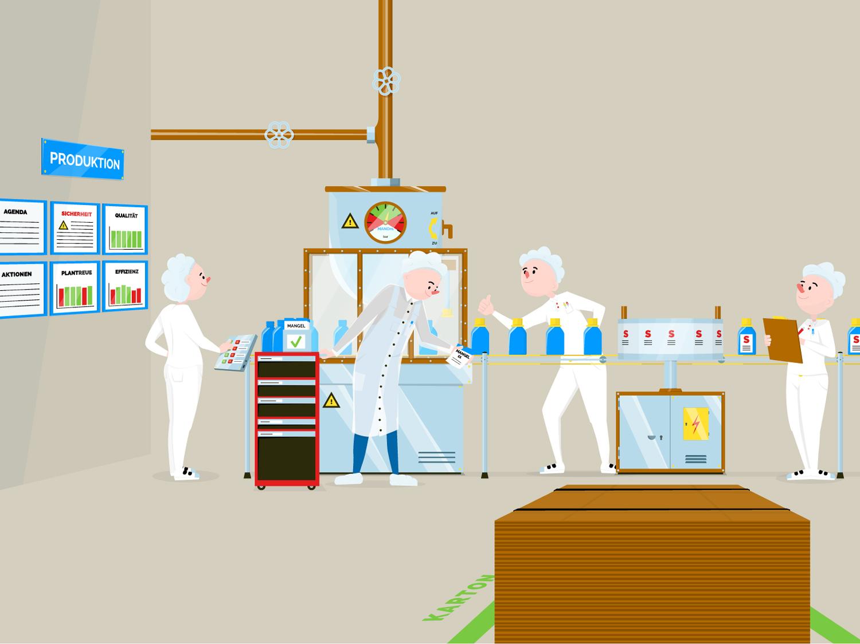 Illustration nach Mitarbeiter Coaching von Elisabeth Deim