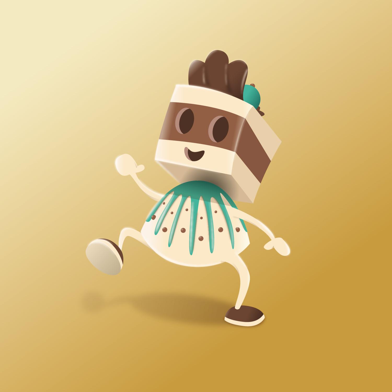"""Character Design der Praline """"Chocolady""""von Elisabeth Deim"""