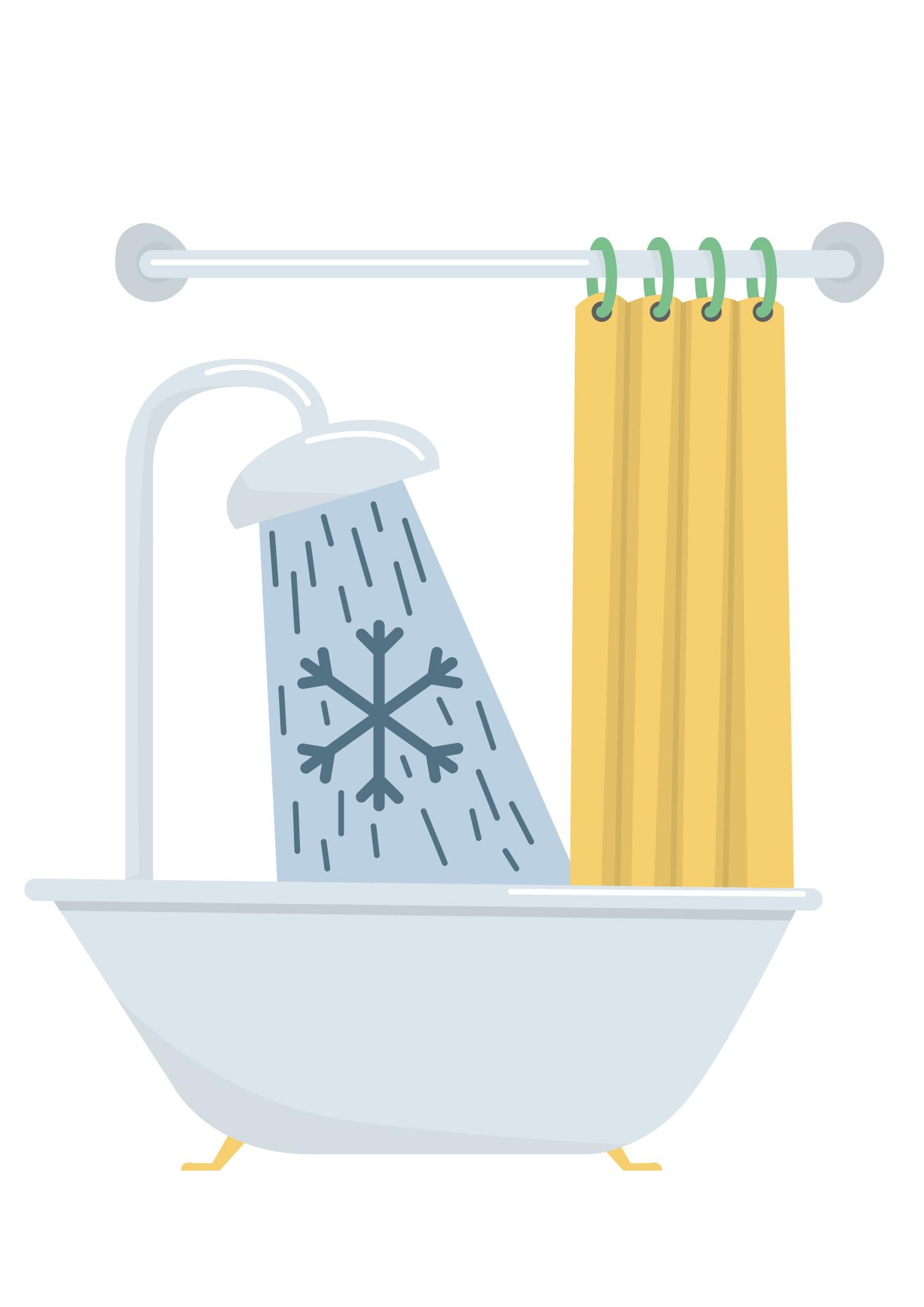 Editorial Illustration kalt duschen - Elisabeth Deim