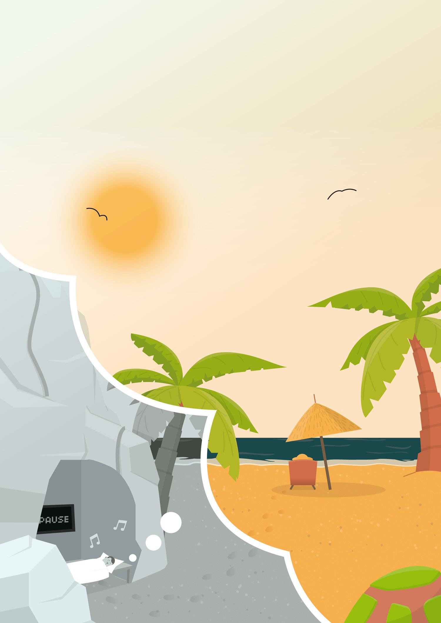 Sachbuch Illustration Traumreisen - Elisabeth Deim