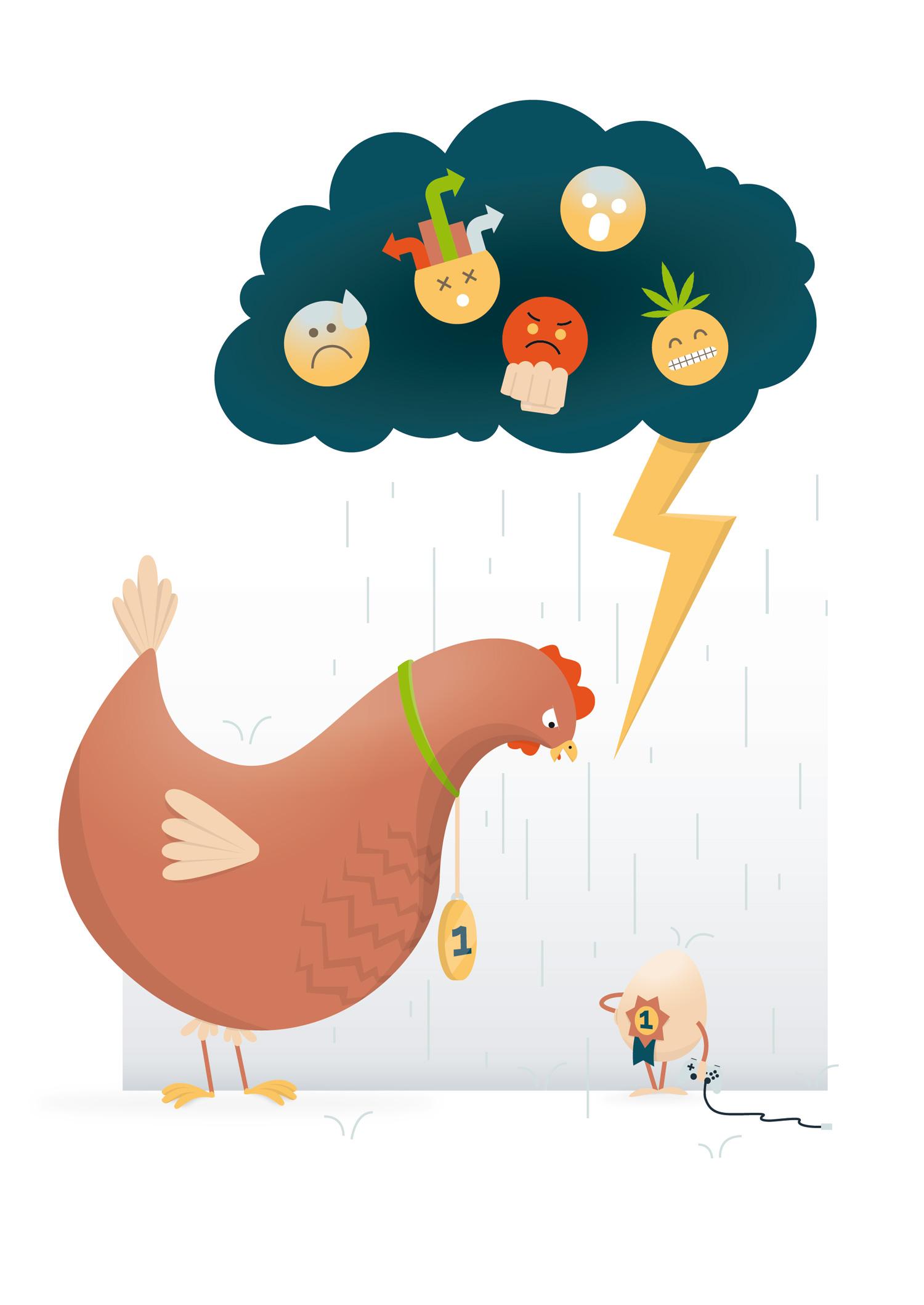 Sachbuch Illustration Ei oder Huhn zu erst - Elisabeth Deim