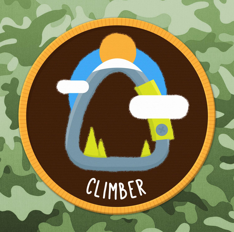 Abzeichen / Badge Outdoor Klettern - Elisabeth Deim