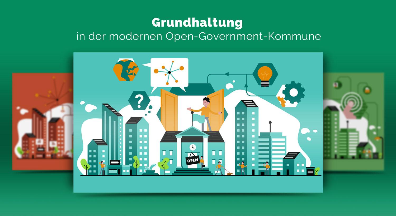 Illustrationen zur Grundhaltung im Open Government / Elisabeth Deim