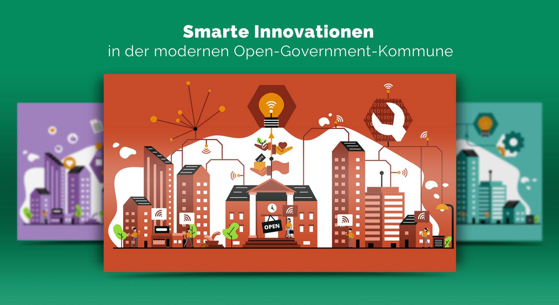 Illustrationen zur Innovation im Open Government / Elisabeth Deim