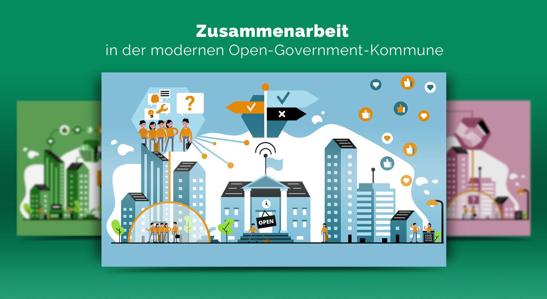 Illustrationen zur Zusammenarbeit im Open Government / Elisabeth Deim