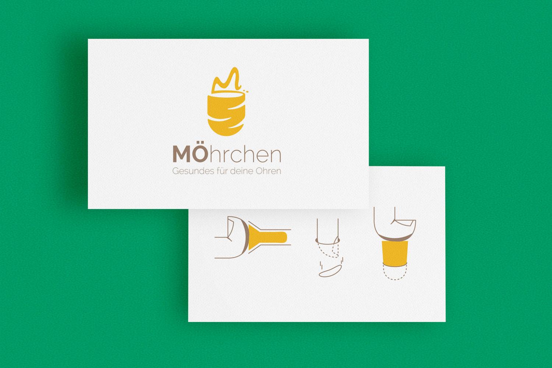 Logo MÖhrchen und Erklärung für Gehörschutzstöpsel als Icons / Elisabeth Deim