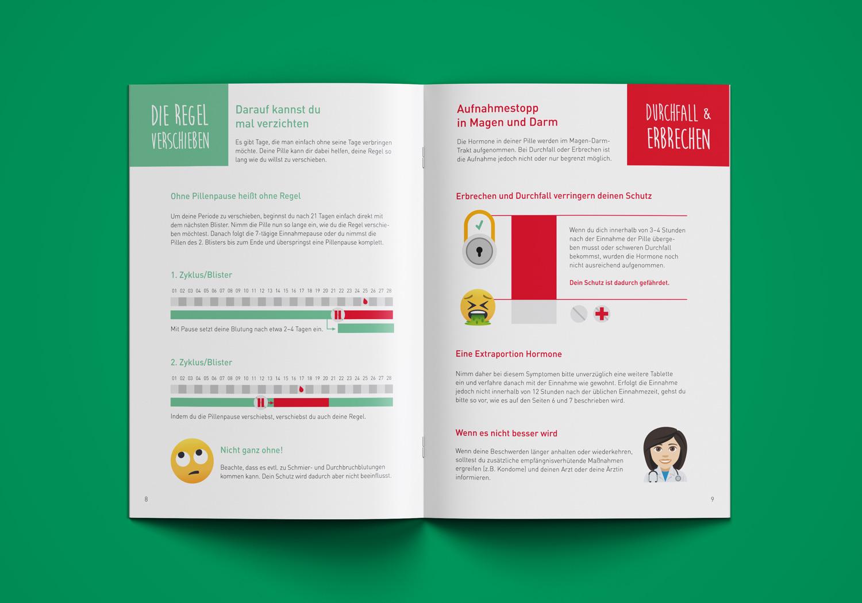 """Innenseite mit Infografiken von Elisabeth Deim in der Infobroschüre """"Lebe deine Liebe - Sicher."""""""