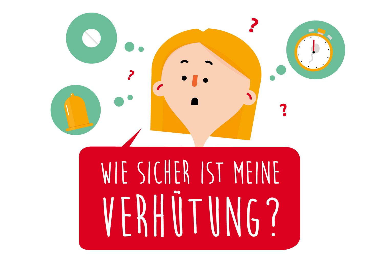 """Social Media Grafik """"Sicher verhüten"""" von Elisabeth Deim"""
