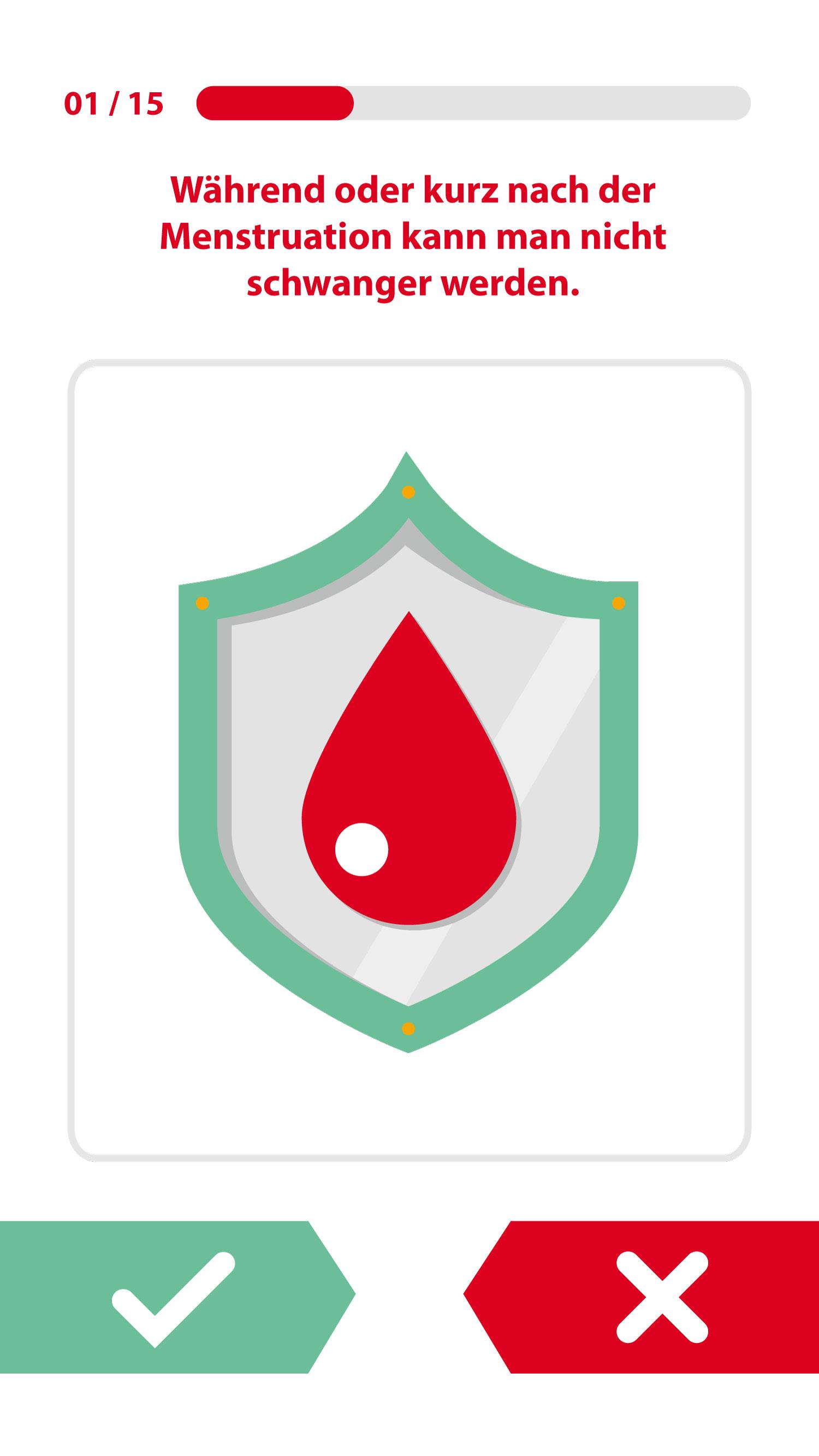 Screendesign Icon zum Quiz Pille zur Verhütung von Elisabeth Deim