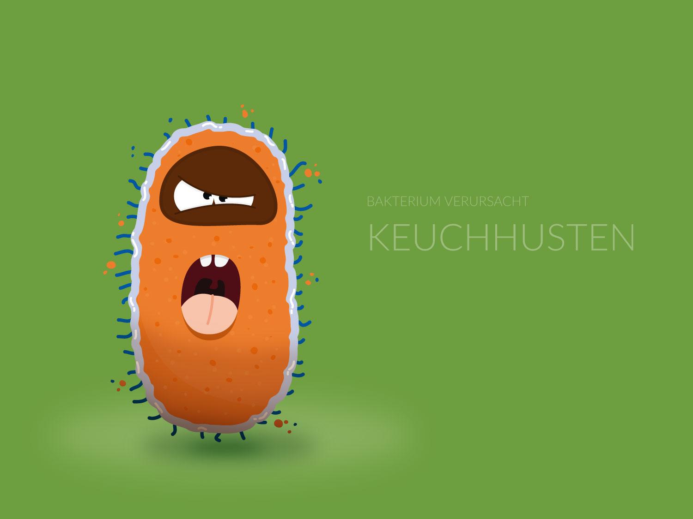Character Design - Keuchhusten-Virus- Elisabeth Deim